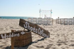sun, sand, vows, wedding
